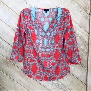The Limited Boho Tunic Pink/Turquoise Print XS